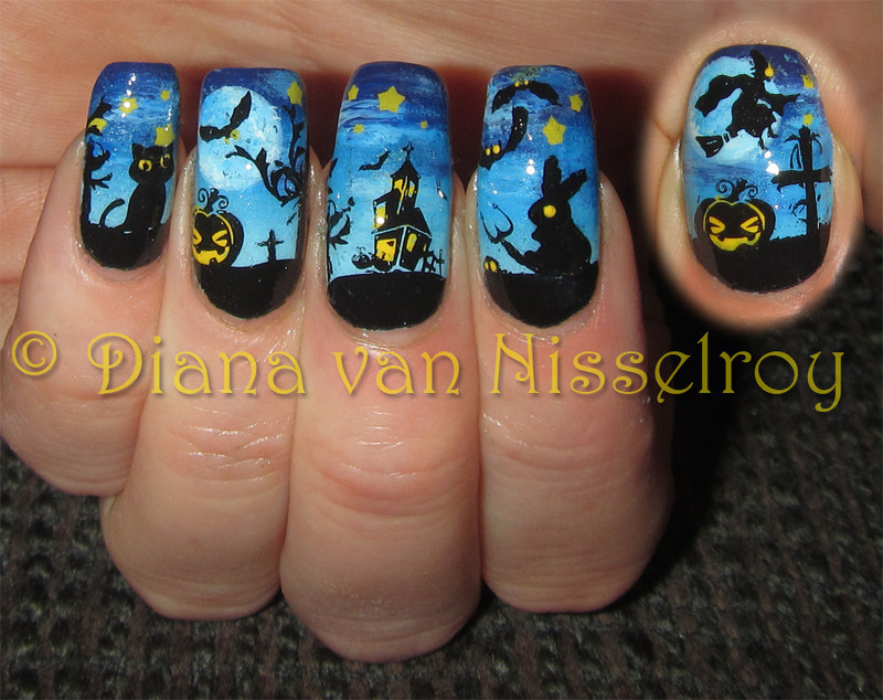 Everything is Haunted nail art by Diana van Nisselroy