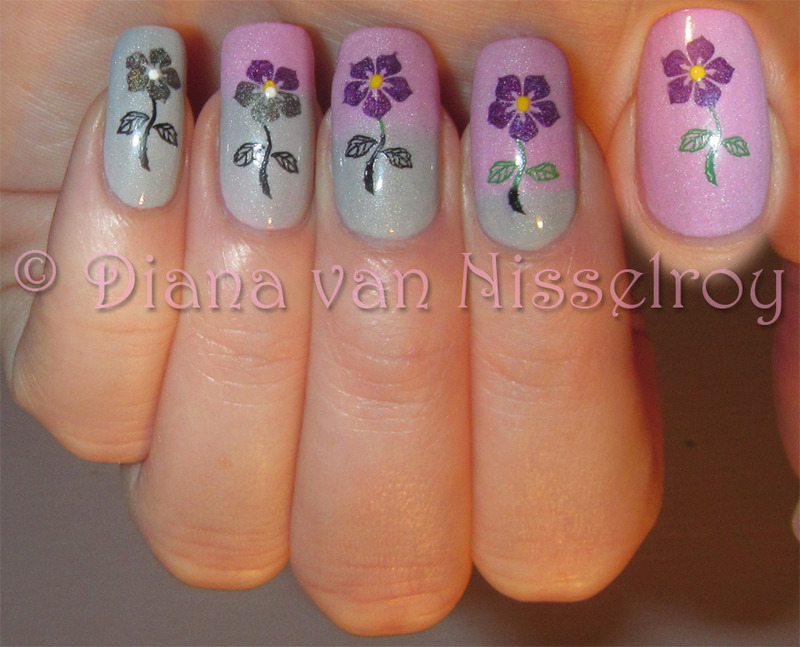 Be Strong nail art by Diana van Nisselroy