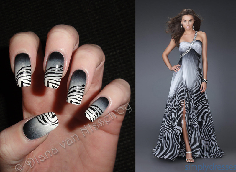 Fashion Inspired nail art by Diana van Nisselroy