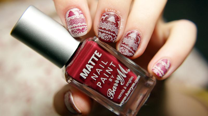 Vanillia and Crush nail art by Panna Marchewka