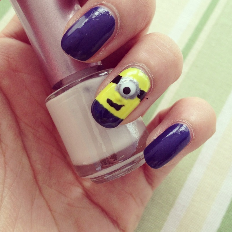 Minion! nail art by Vanity Fashionista