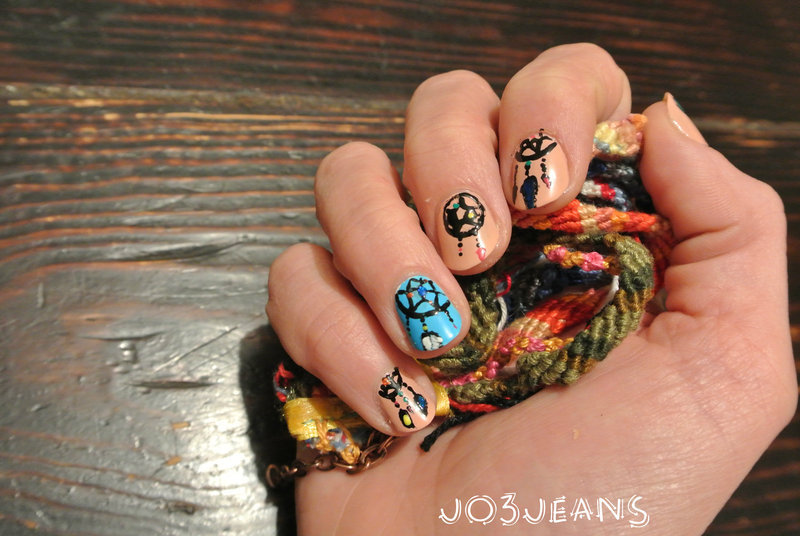 dreamcatcher nails nail art by Jo3jeans