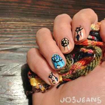 dreamcatcher nails nail art by Jo3jeans