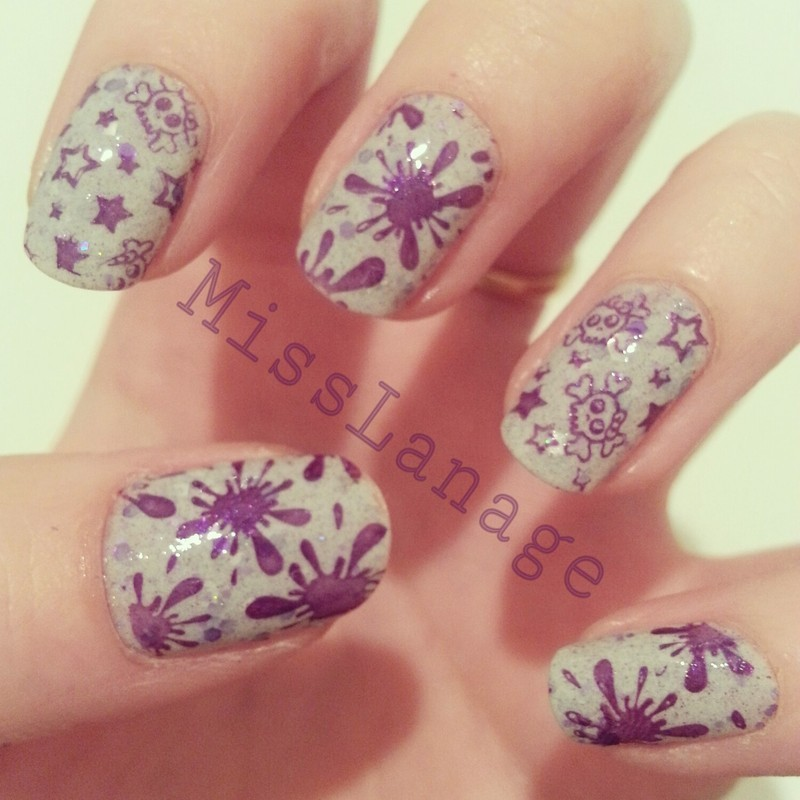 Indie Polish Two Patterns nail art by Rebecca