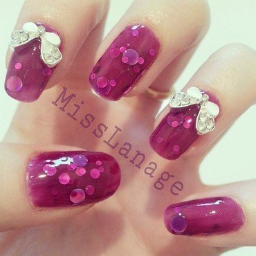 Lush lacquer uk grape juice bows nail art thumb370f