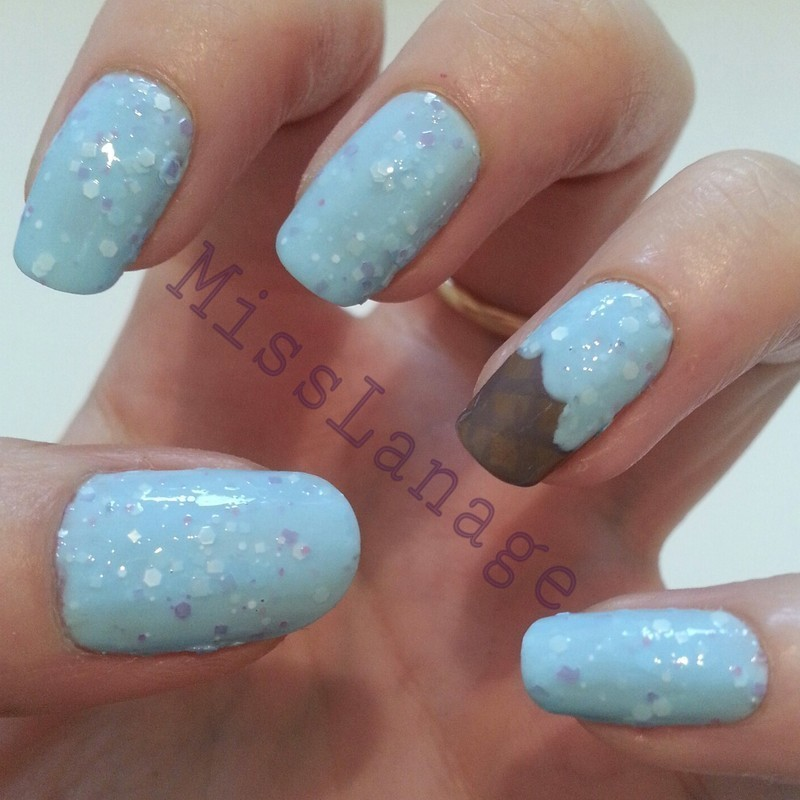 Indie Polish Ice Cream nail art by Rebecca