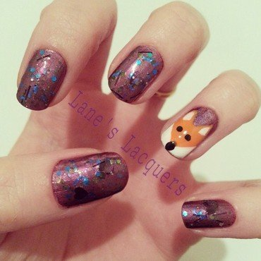 Indie Polish Fox Accent nail art by Rebecca
