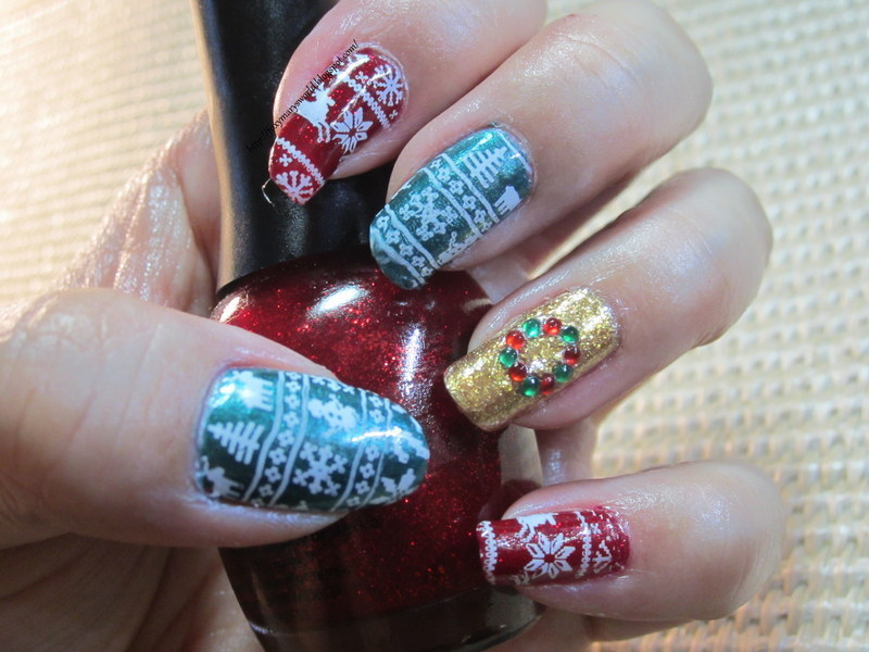 My 2013 Christmas Nails nail art by Silje  Bannister