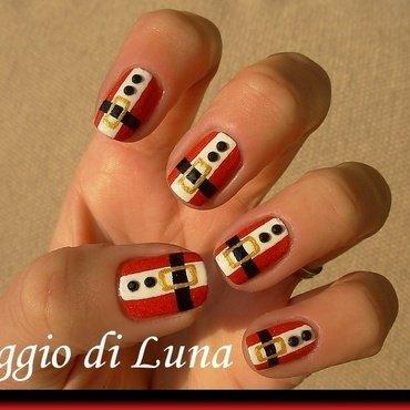 Santa suit nail art by Tanja