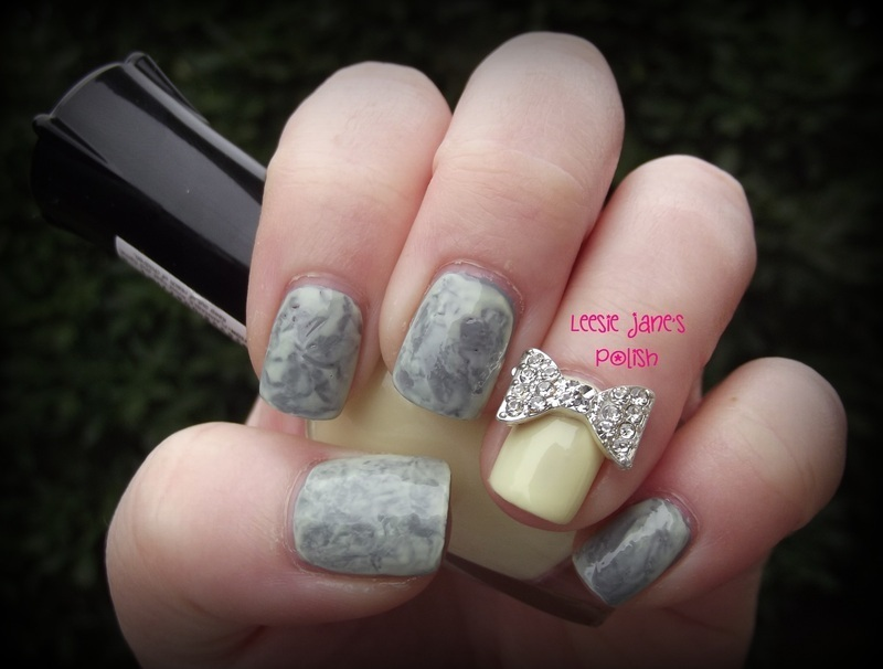 Plastic Wrap nail art by Lisa Overend
