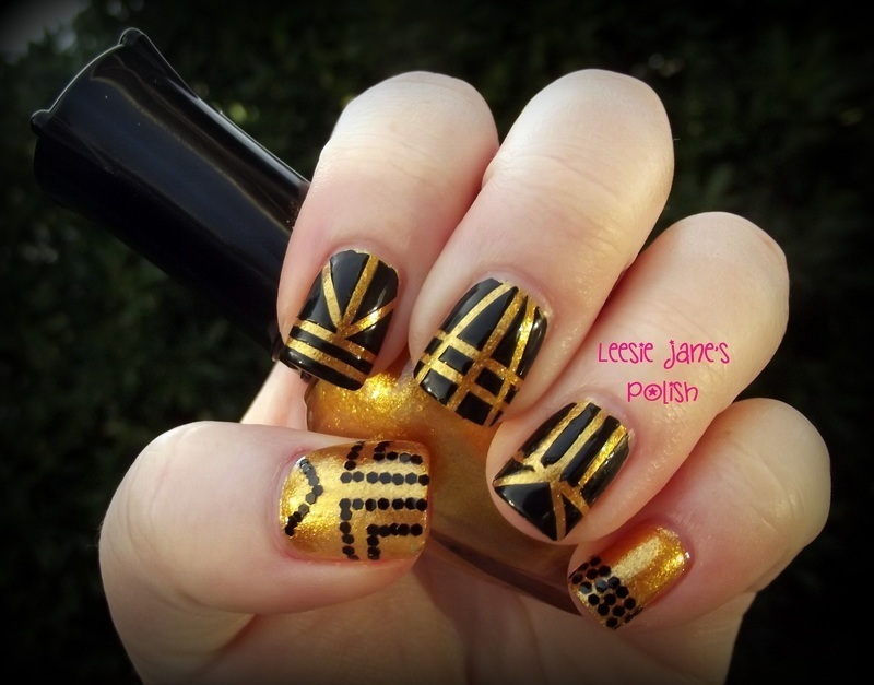 Great Gatsby Inspired nail art by Lisa Overend