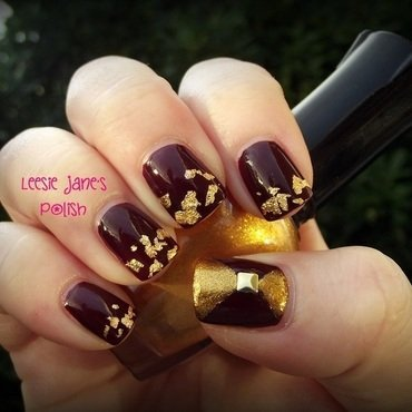 Gold Foil nail art by Lisa Overend