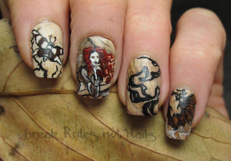 Dracula Art Dracula Calls Nail Art by
