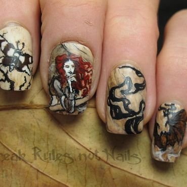 """Dracula Calls""  nail art by Michelle"