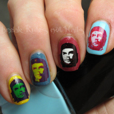 Pop art nails nail art by Michelle
