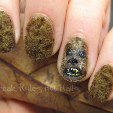 Chewbacca nails nail art by Michelle