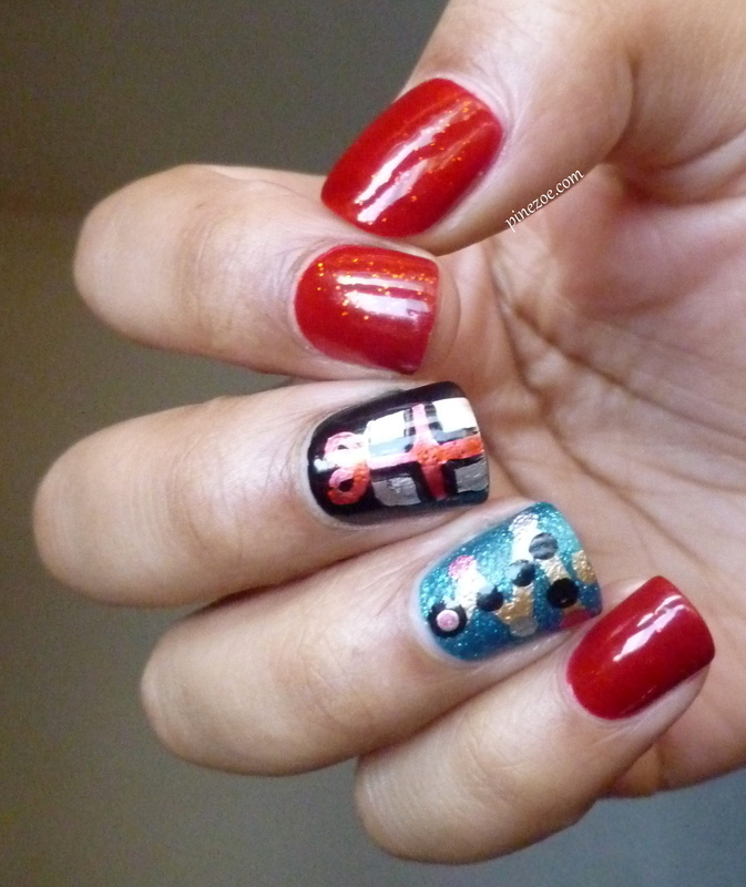 Christmas nails nail art by Pinezoe
