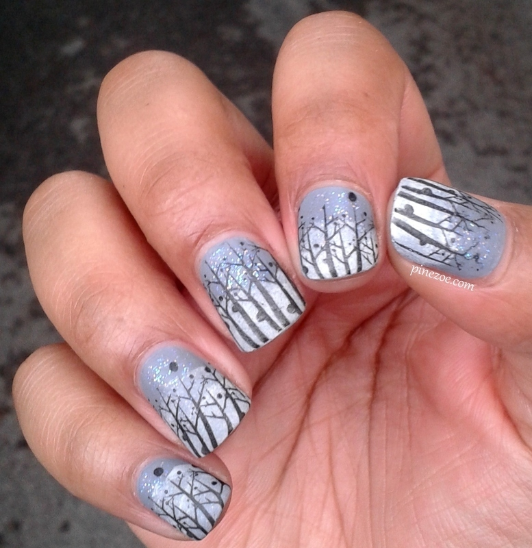 Winter Nails nail art by Pinezoe