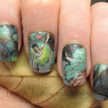 Degas inspired nails nail art by Michelle