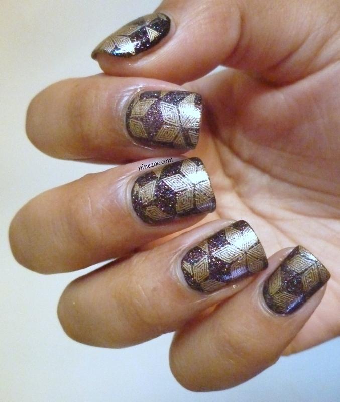 GalsStamping plates nail art nail art by Pinezoe