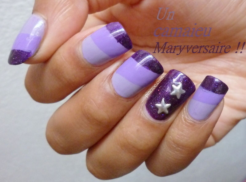 we love purple!  nail art by Pinezoe