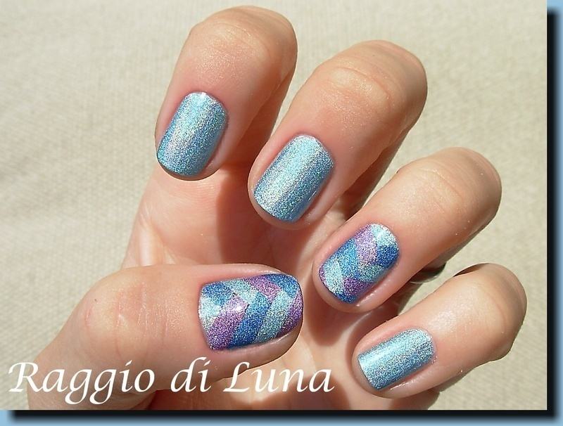 Fishtail braid holo manicure nail art by Tanja