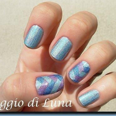 Fishtail braid holo manicure nail art by Tanja