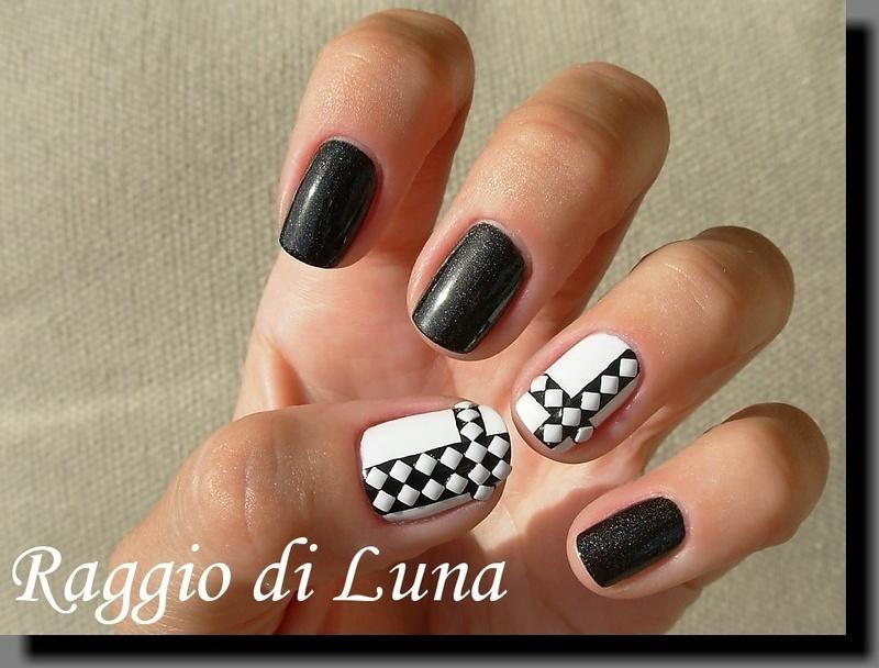 White square nail art studs manicure nail art by Tanja