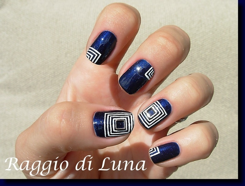 Square metal nail art decoration manicure nail art by Tanja