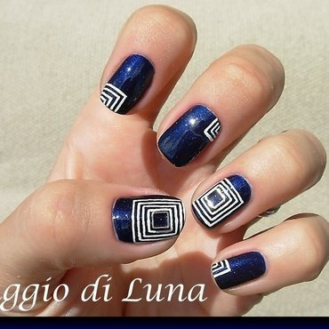 Square metal nail art decoration manicure nail art by Tanja