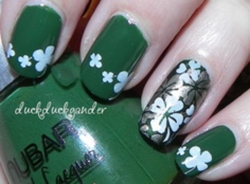 St. Patrick's Day nail art - duckduckgander nail art by Beatriz