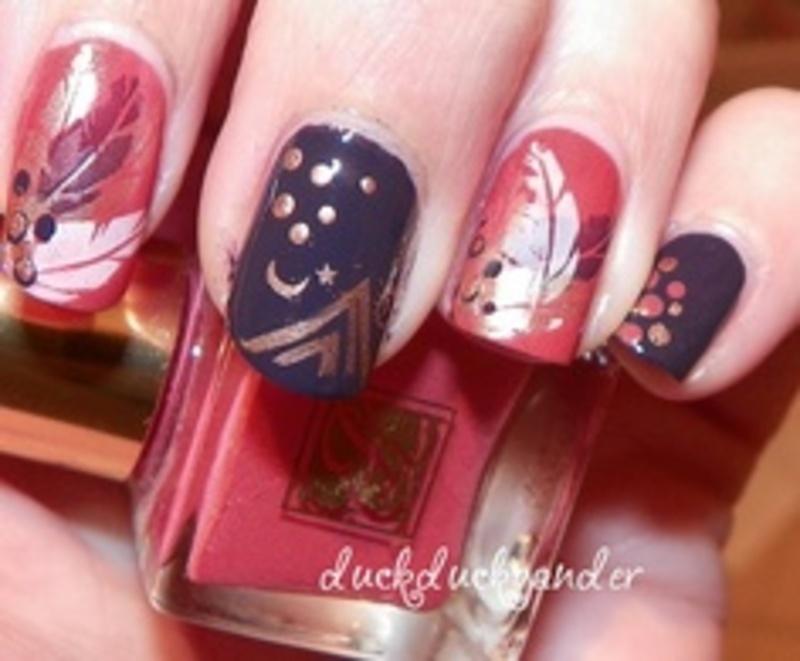 Thanksgiving - duckduckgander  nail art by Beatriz