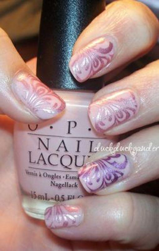 Girly Swirls - duckduckgander  nail art by Beatriz