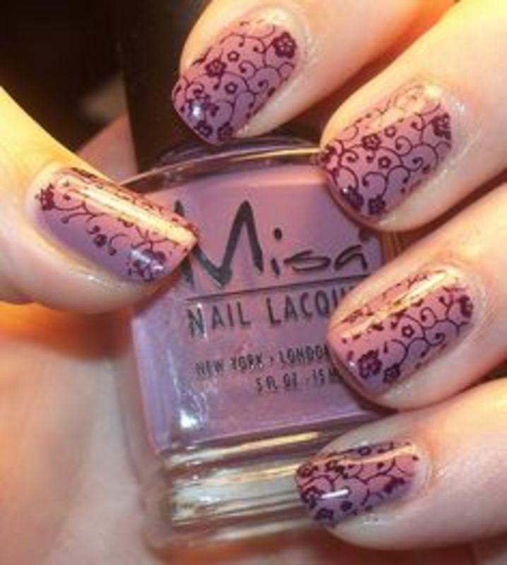 Purple wallpaper - duckduckgander  nail art by Beatriz