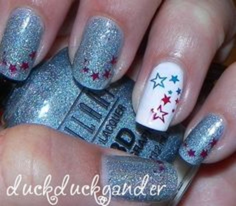 Fourth of July - duckduckgander nail art by Beatriz