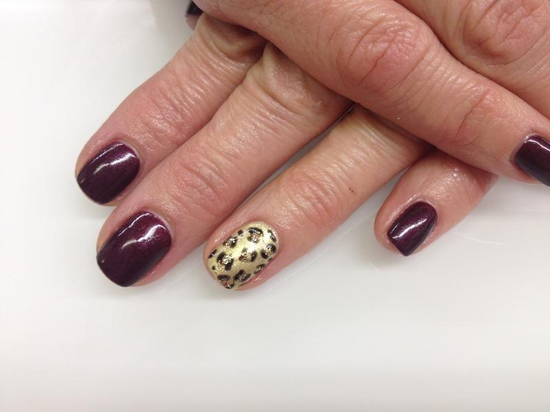 Leopard Print Manicure  nail art by Laurelle Alexandra