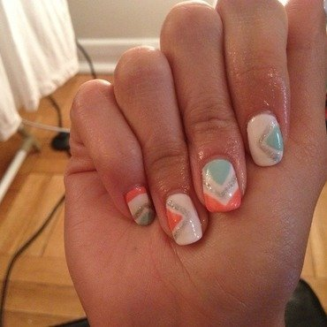 Geometric Pastel Nails nail art by Laurelle Alexandra