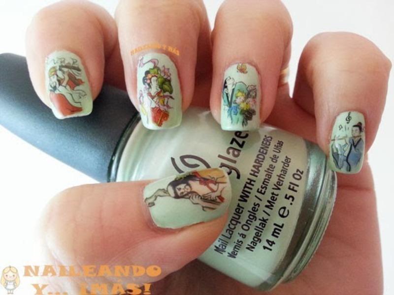 Oriental Nail Art nail art by Ana