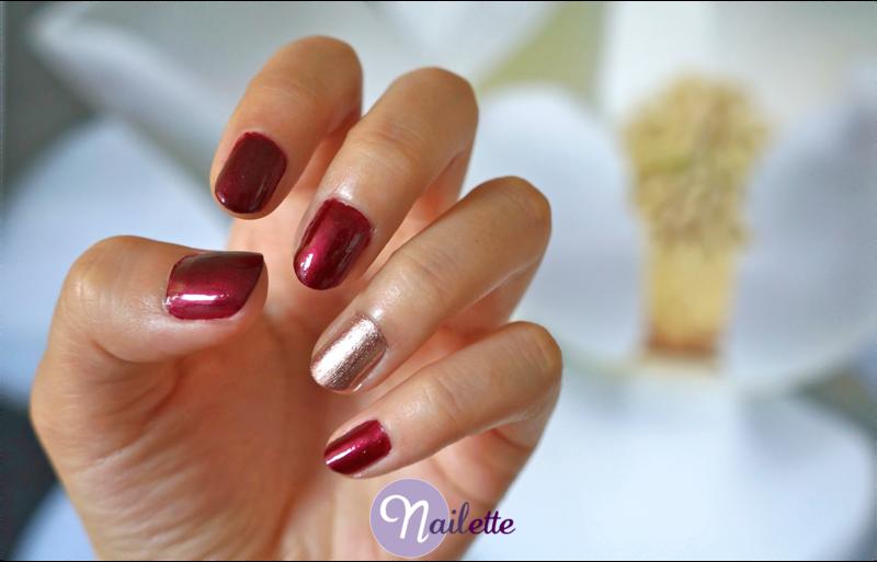 Garnet nail art by Lynn