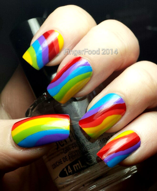 NAILS Mag 31DC Rainbow nail art by Sam