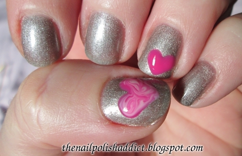 2014 Valentine's Day Nails nail art by Leah