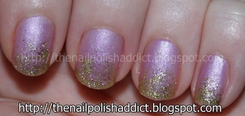 Sparkle Gradient nail art by Leah
