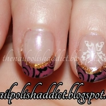 Butterfly Accent nail art by Leah