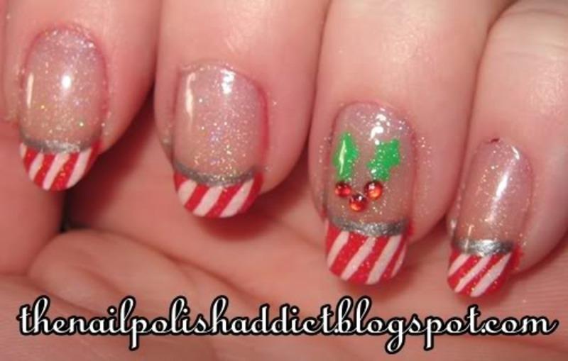 Holly Jolly Christmas Nails nail art by Leah