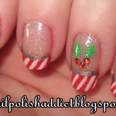 Holly Jolly Christmas Nails nail art by Leah