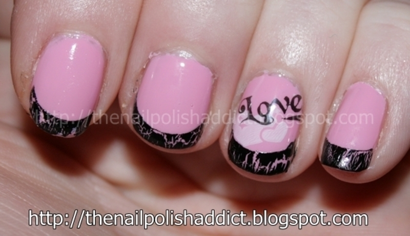I Love This Pink nail art by Leah
