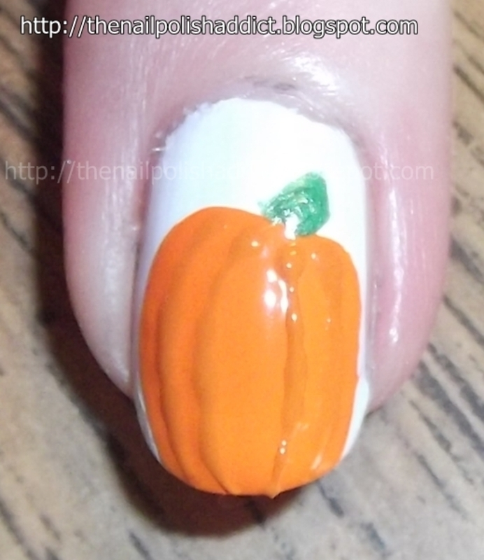 The Great Pumpkin nail art by Leah