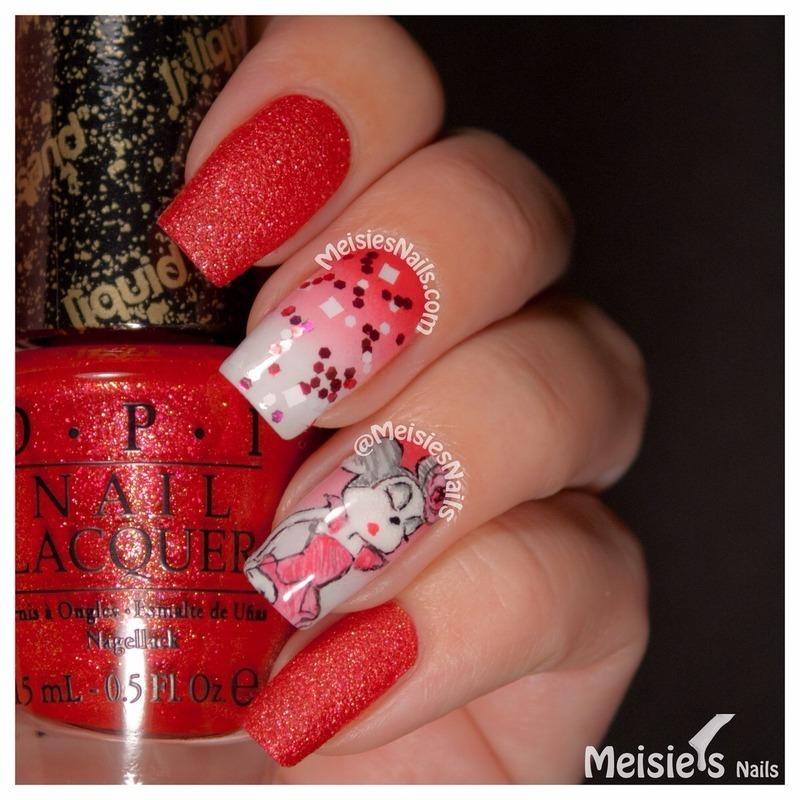 Couture de Minnie nail art by Angelique