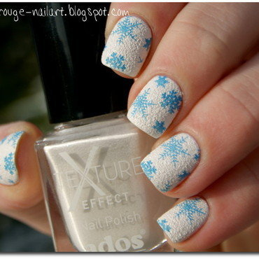 Snowflakes nails nail art by Gdańsk