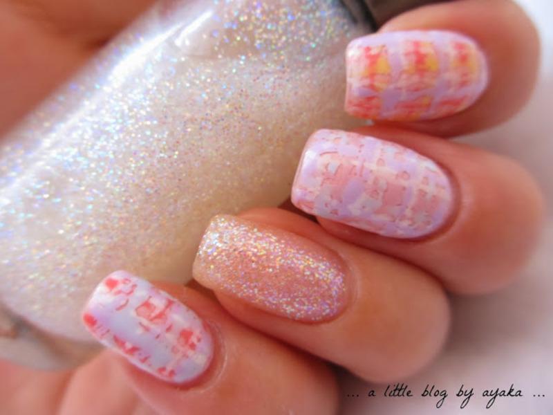pastel tweed 🌼 nail art by Ayaka